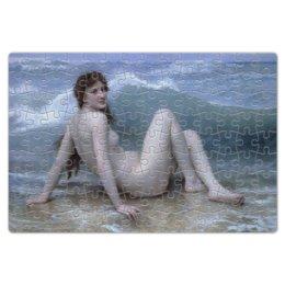 "Пазл магнитный 18 x 27 (126 элементов) ""Волна (картина Бугро)"" - картина, академизм, живопись, ню, бугро"