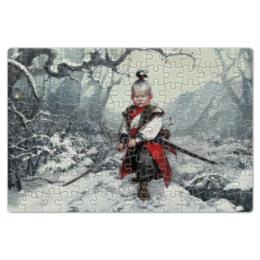 """Пазл магнитный 18 x 27 (126 элементов) """"Маленький самурай"""" - самурай, samurai, маленький самурай"""