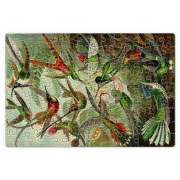 "Пазл магнитный 18 x 27 (126 элементов) ""Колибри (Trochilidae, Ernst Haeckel)"" - птицы, картина, эрнст геккель, 14фев, 8мар"