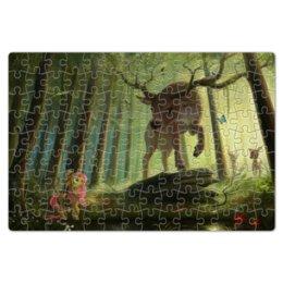 "Пазл магнитный 18 x 27 (126 элементов) ""My Little Pony Deer"" - лес, fluttershy, олени, рога, леса"