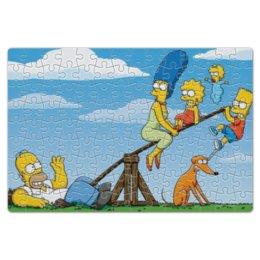 """Пазл магнитный 18 x 27 (126 элементов) """"Симпсоны"""" - симпсоны, гомер симпсон, the simpsons, барт симпсон"""
