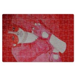 """Пазл магнитный 18 x 27 (126 элементов) """"Девушка в красном"""" - арт, рисунок, девушка"""