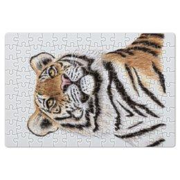 """Пазл магнитный 18 x 27 (126 элементов) """"Взгляд тигра"""" - хищник, животные, взгляд, тигр, зверь"""