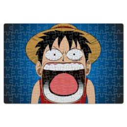 """Пазл магнитный 18 x 27 (126 элементов) """"Луффи - Чё??!!"""" - аниме, шляпа, one piece, луффи, монки ди луффи"""