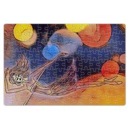 """Пазл магнитный 18 x 27 (126 элементов) """"Танец"""" - арт, танец, женщина, балет, легкость"""