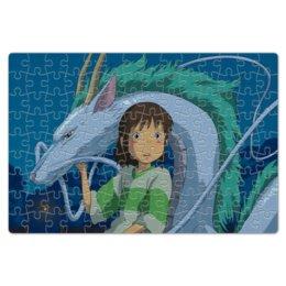 """Пазл магнитный 18 x 27 (126 элементов) """"Унесённые призраками"""" - дракон, dragon, spirited away, унесённые призраками, hayao"""