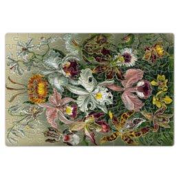 """Пазл магнитный 18 x 27 (126 элементов) """"Орхидеи (Orchideae, Ernst Haeckel)"""" - картина, орхидея, день матери, красота форм в природе, эрнст геккель"""