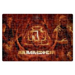 """Пазл магнитный 18 x 27 (126 элементов) """"Раммштайн"""" - рок и метал, раммштайн"""