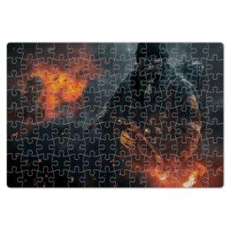 """Пазл магнитный 18 x 27 (126 элементов) """"Warfare"""" - война, огонь, человек, военный, огнемет"""