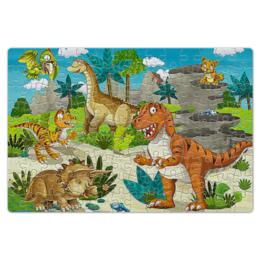 """Пазл магнитный 18 x 27 (126 элементов) """"динозавры"""" - стиль, попугай, природа"""