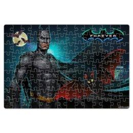 """Пазл магнитный 18 x 27 (126 элементов) """"БЭТМЕН BATMAN"""" - комиксы, летучая мышь, стиль надпись логотип яркость, арт фэнтези"""