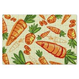 """Пазл магнитный 18 x 27 (126 элементов) """"Морковь"""" - овощ, морковь, carrot"""