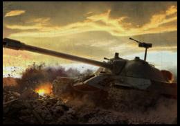 """Пазл магнитный 18 x 27 (126 элементов) """"Тяжёлый танк ИС-7"""" - world of tanks, wot, ис-7, ис"""