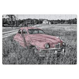 """Пазл магнитный 18 x 27 (126 элементов) """"Раритет 1"""" - ретро, машина, автомобиль, пейзаж, раритет"""
