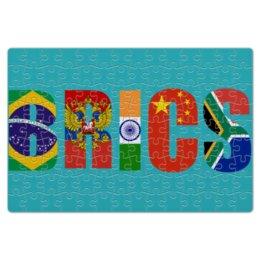 """Пазл магнитный 18 x 27 (126 элементов) """"BRICS - БРИКС"""" - россия, китай, индия, бразилия, юар"""