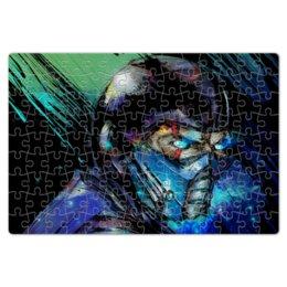 """Пазл магнитный 18 x 27 (126 элементов) """"Mortal Kombat X (Sub-Zero)"""" - космос, воин, боец, mortal kombat, sub-zero"""
