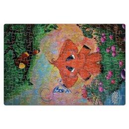 """Пазл магнитный 18 x 27 (126 элементов) """"Слоник"""" - бабочка, цветы, слон, попугай, сказка"""