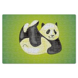"Пазл магнитный 18 x 27 (126 элементов) ""Панда"" - панда, яркая"