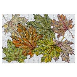 """Пазл магнитный 18 x 27 (126 элементов) """"кленовые листья мехенди"""" - листья, рисунок, осень, орнамент, мехенди"""