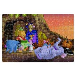 """Пазл магнитный 18 x 27 (126 элементов) """"Винни Пух и его друзья празднуют Хэллоуин"""""""