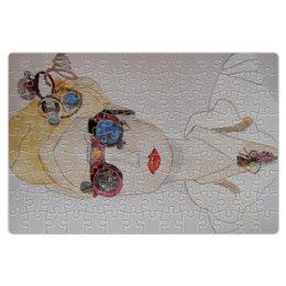 """Пазл магнитный 18 x 27 (126 элементов) """"Стимпанковская леди"""" - арт, девушка, портрет, стимпанк"""