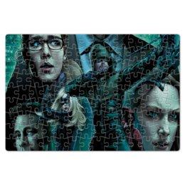 """Пазл магнитный 18 x 27 (126 элементов) """"Зеленая стрела"""" - арт, стиль, рисунок, комиксы, оливеркуин"""