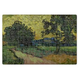 """Пазл магнитный 18 x 27 (126 элементов) """"Пейзаж в сумерках (Ван Гог)"""" - картина, ван гог, живопись"""