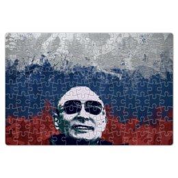 "Пазл магнитный 18 x 27 (126 элементов) ""Путин"" - очки, патриот, флаг, путин, putin"