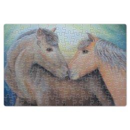 """Пазл магнитный 18 x 27 (126 элементов) """"любовь лошадей"""" - любовь, лошадь, лошади"""