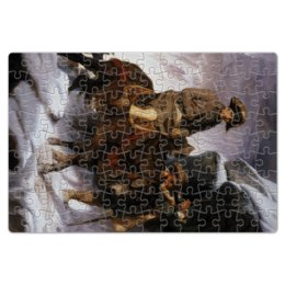 "Пазл магнитный 18 x 27 (126 элементов) ""Наполеон на перевале Сен-Бернар"" - картина, давид"