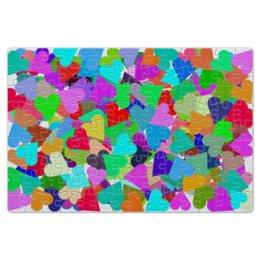 """Пазл магнитный 18 x 27 (126 элементов) """"Сколько здесь сердечек?"""" - любовь, орнамент, символ"""