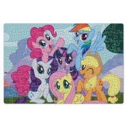 "Пазл магнитный 18 x 27 (126 элементов) ""My Little Pony"" - rainbow dash, my little pony, applejack, friendship is magic, twilight sparkle"
