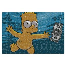 "Пазл магнитный 18 x 27 (126 элементов) ""Барт Симпсон"" - барт симпсон, bart simpson, krusty burger, доллар, клоун красти"