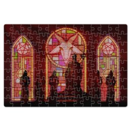 """Пазл магнитный 18 x 27 (126 элементов) """"Оккультизм"""" - оккультизм, церковь, пентаграмма, алтарь, occultus"""