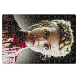 """Пазл магнитный 18 x 27 (126 элементов) """"Неоновый демон"""" - девушка, кино, мечта, модель, эль фаннинг"""