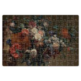 "Пазл магнитный 18 x 27 (126 элементов) ""Ваза с цветами (Ян ван Хёйсум)"" - цветы, картина, живопись, натюрморт, ян ван хёйсум"