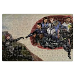"""Пазл магнитный 18 x 27 (126 элементов) """"Mass Effect (Shepard and team)"""" - арт, игры, mass effect, shepard, масс эффект"""