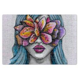 """Пазл магнитный 18 x 27 (126 элементов) """"Весна"""" - праздник, девушка, цветы, 8 марта, весна"""