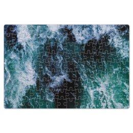 """Пазл магнитный 18 x 27 (126 элементов) """"Бескрайнее море"""" - море, пляж, волны, calm, туманность"""
