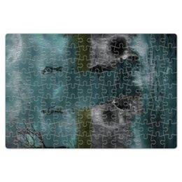 """Пазл магнитный 18 x 27 (126 элементов) """"Dark Art"""" - skull, череп, любовь, skeleton, скелет"""