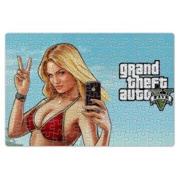"Пазл магнитный 18 x 27 (126 элементов) ""Grand Theft Auto Five"" - пазлы gta 5"