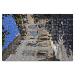 """Пазл магнитный 18 x 27 (126 элементов) """"Улица города Авиньон"""" - дом, машина, франция, двор, окна"""