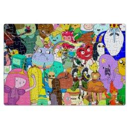 """Пазл магнитный 18 x 27 (126 элементов) """"Adventure Time"""" - мультфильм, коллаж, для детей, adventure time"""