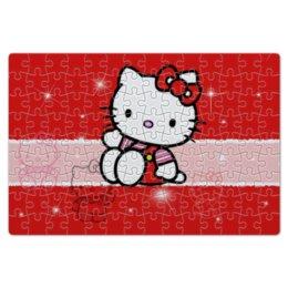 "Пазл магнитный 18 x 27 (126 элементов) ""Hello Kitty с искрами"" - hello kitty, мультфильм, для детей, кошечка, искры"