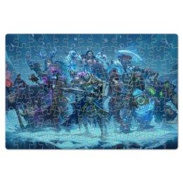 "Пазл магнитный 18 x 27 (126 элементов) ""Knights Of The Frozen Throne"" - монстры, лед, рыцари, трон, knights frozen throne"