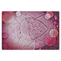 """Пазл магнитный 18 x 27 (126 элементов) """"Сердечный ангел"""" - сердце, любовь, 14 февраля, день влюбленных, сердечный ангел"""