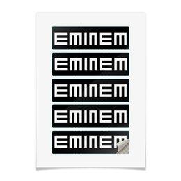 """Наклейки прямоугольные 15x4.5см """"EMINEM"""" - rap, hip-hop, eminem, эминем, slim shady"""