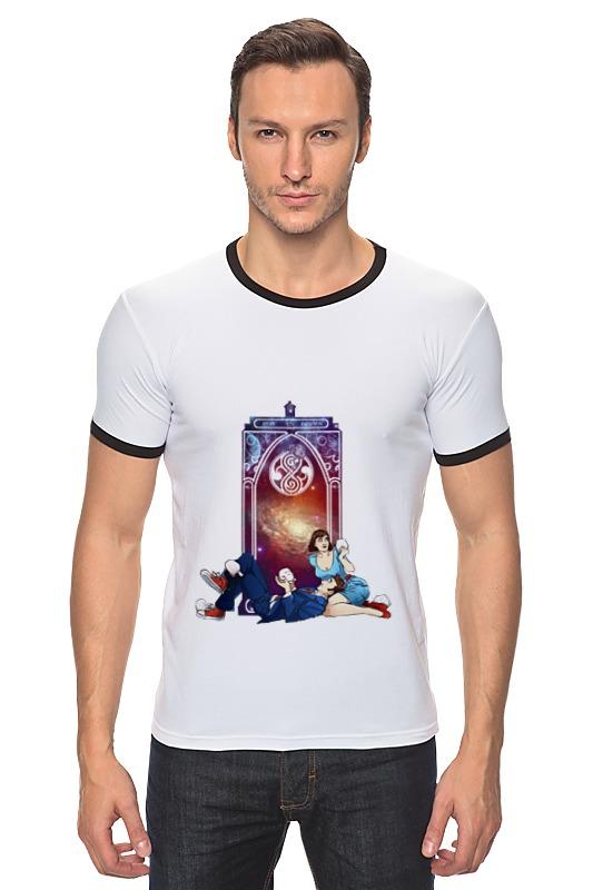 Футболка Рингер Printio Десятый доктор и пери (tenth doctor and peri) футболка wearcraft premium printio десятый доктор tenth 10th doctor