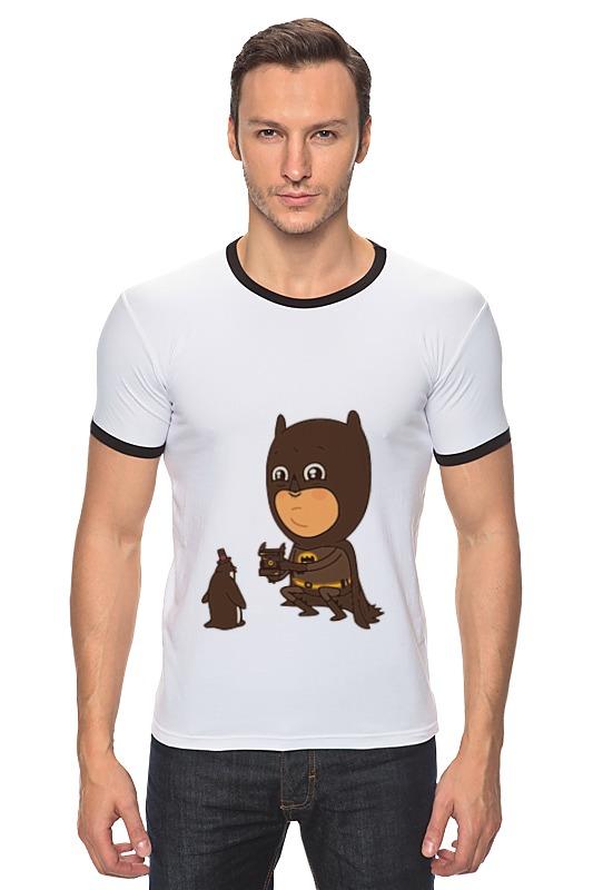 Футболка Рингер Printio Бэтмен и пингвин