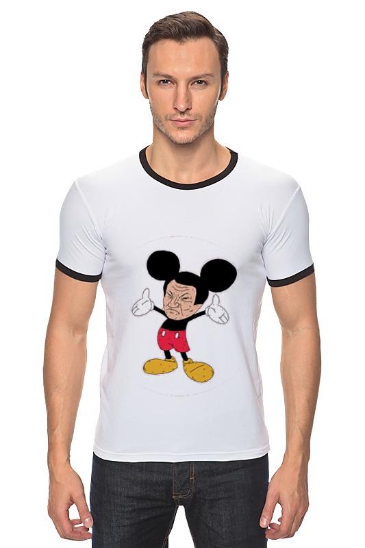 Футболка Рингер Printio Evil mickey mouse футболка рингер printio война никогда не меняется